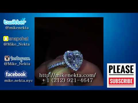 Heart Shaped Diamond Engagement Ring available for BTC or Bank Wire Transfer.