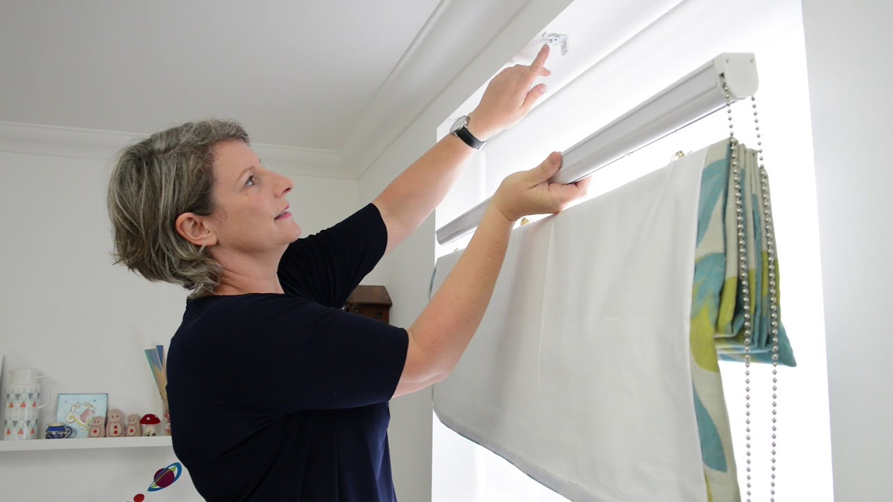 How To Fit Roman Blinds Curtainscurtainscurtains Youtube