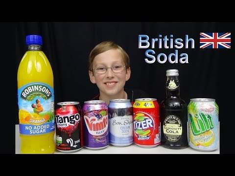 BRITISH SODA TASTE TEST | COLLINTV