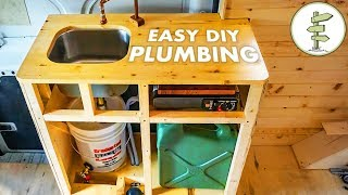 Cheap & Easy DIY Camper Van Plumbing System - Van Life