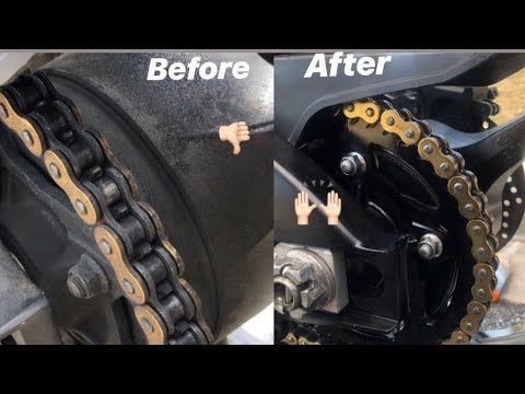How to clean and lube bike chain!