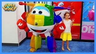 Learn Colors With Super Wings Kids Indoor Playground