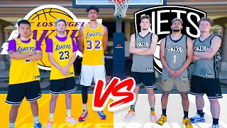 Nets vs. Lakers INSANE NBA Basketball Challenges