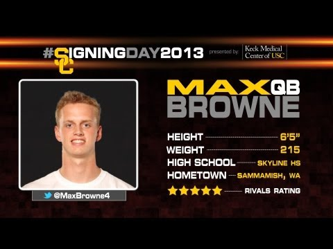 USC Signing Day 2013 Max Browne