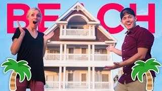 NEW HOUSE TOUR: BEACH EDITION! | Ellie and Jared