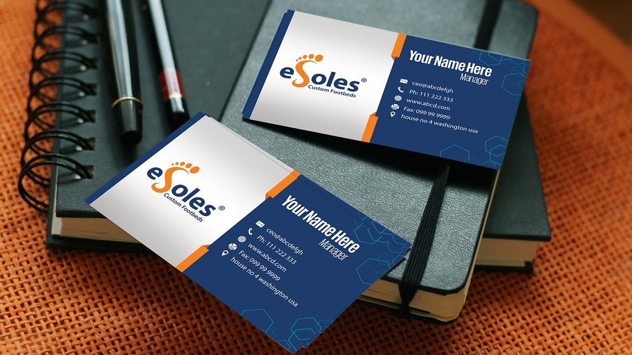 Business card design in photoshop youtube business card design in photoshop reheart Image collections