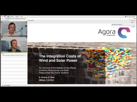 The Integration Costs of Wind and Solar Power – Webinar-Recording Agora Energiewende