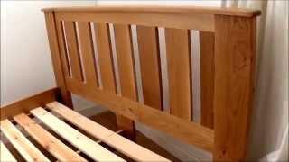 Braemar Bed Handmade In Oak
