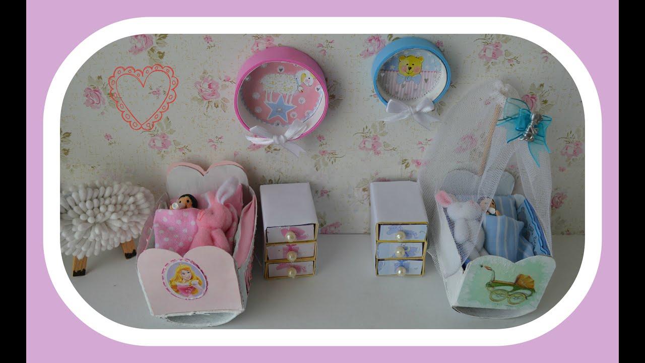 Como fazer cômoda movel para o bebe de boneca para Barbie  #3F687D 3504x2146 Banheiro Da Barbie Como Fazer