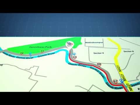 The Run Marathon Lucknow - Route Map