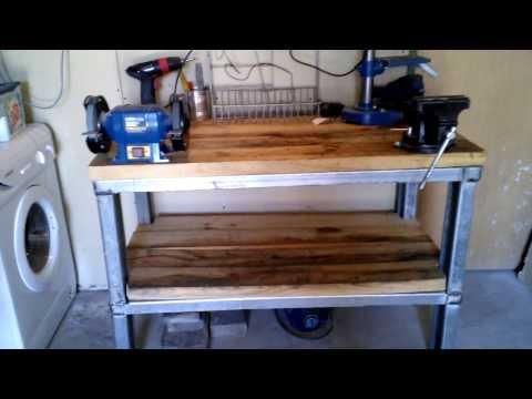 C mo hacer una cama de acero doovi - Hacer una mesa de trabajo ...