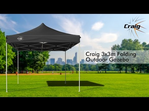 Green 3x3m Outdoor Gazebo Marquee