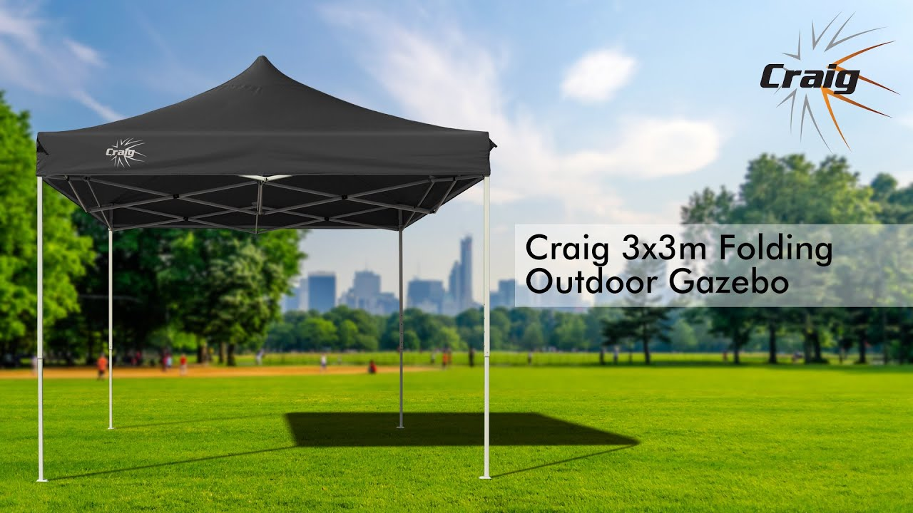 Craig 3x3m Folding Outdoor Gazebo Youtube