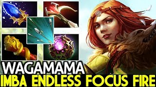 WAGAMAMA [Windranger] Endless Focus Fire Tryhard 22 Kills  7.22 Dota 2