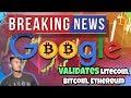GREAT NEWS: GOOGLE VALIDATES LITECOIN, BITCOIN, ETHEREUM!!! Currency Converter... Stellar Falling