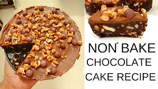 No Bake Chocolate Cake Recipe | Without Oven #CakeRecipe For #Christmas