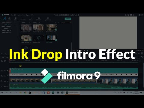 How to Create Ink Drop Intro Effect| Chinese Movie Intro| Filmora 9 Tuto...