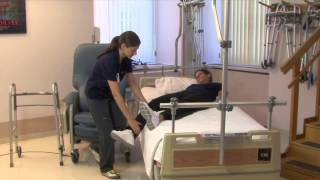 Occupational Therapy: Getting from Bed to Chair (Total Hip Replacement)