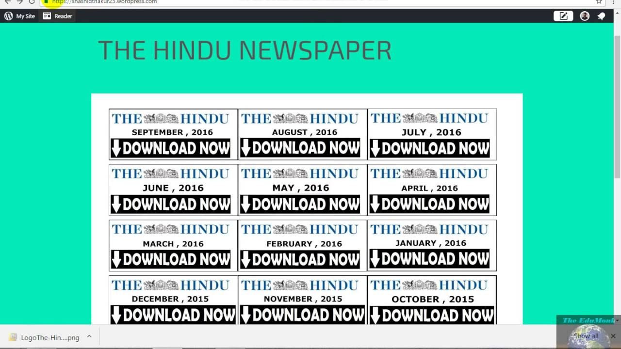 The Hindu Newspaper Free download 25th November 2018
