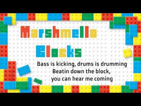 Marshmello Blocks Lyric video
