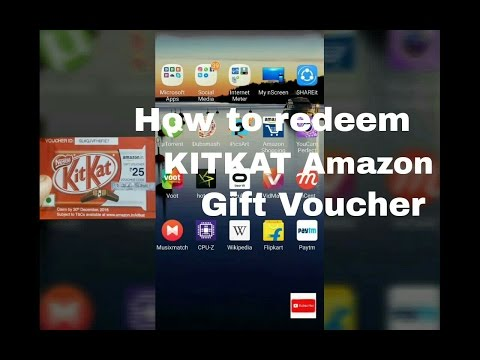 How to redeem Free Kitkat Amazon Gift Card/Voucher