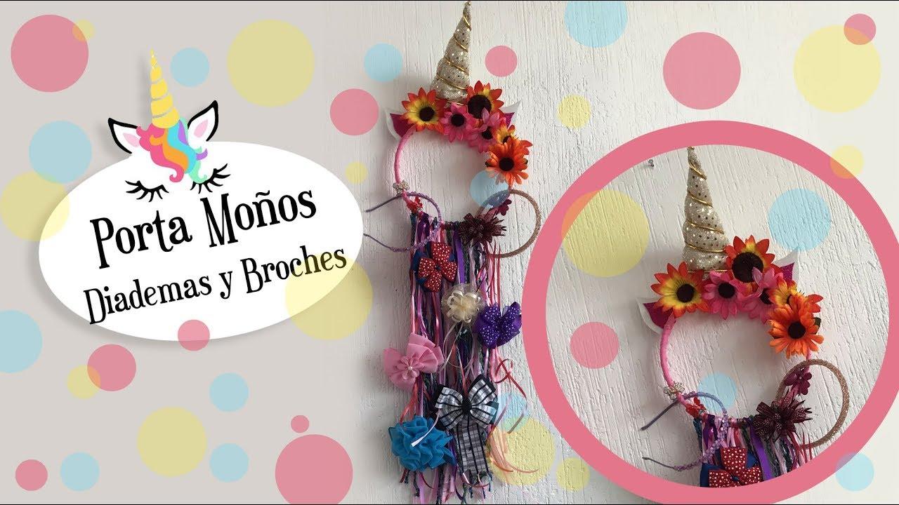 Unicornio porta mo os broches y diademas unicron diy craft youtube - Material para hacer diademas ...
