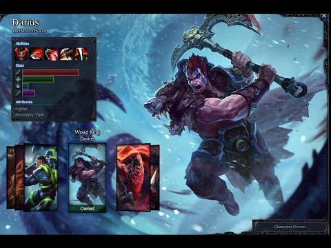 Woad King Darius Skin Spotlight Gameplay 1080p Hd Youtube