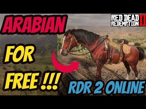 Red Dead Redemption 2 Online FREE ARABIAN HORSE !! Red Chestnut!!