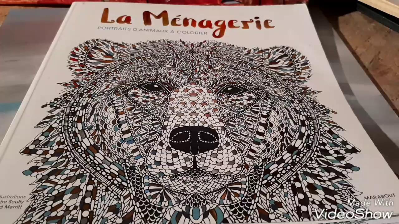 Présentation La Ménagerie Livre Coloriage Marabout