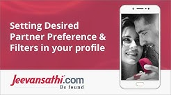 Jeevansathi.com: Setting Desired Partner Preference & Filters in your profile