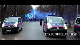 Bosnien-ULTRAS am Weg zum Happelstadion  | Österreich - Bosnien 31.03.2015