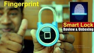 Fingerprint Based Smart Door Lock | Pad Lock for home, Bicycle & Luggage