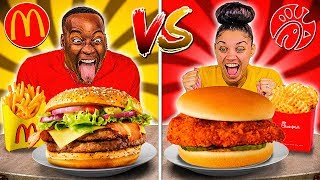 MCDONALDS VS CHICK-FIL-A FOOD CHALLENGE