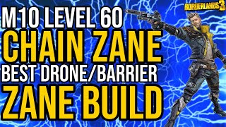 UPDATED BEST DRONE/BARRIER ZANE BUILD! Solo All Content + Gamesave! // Chain Zane // Borderlands 3