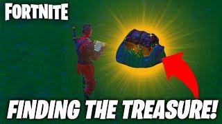 FINDING BURIED TREASURE IN FORTNITE! FORTNITE TREASURE MAP! X Marks The Spot! (Fortnite Season 8)