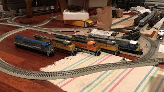 MTH O Scale Premier Intermodal Double Stack Freight Train Debut (SD80MAC, U30C, SD70ACe, & AC4000CW)