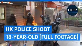 Hong Kong police shoot 18-year-old protester at close range [Graphic]