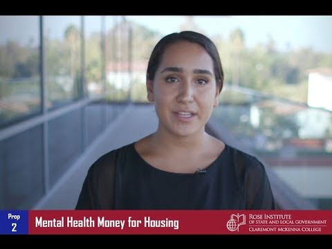 California Proposition 2: Mental Health Money for Housing