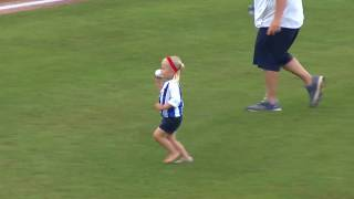 Adorable Lexington Fan Delivers Hysterical First Pitch