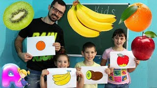draw and color Fruits  by Anna Kids