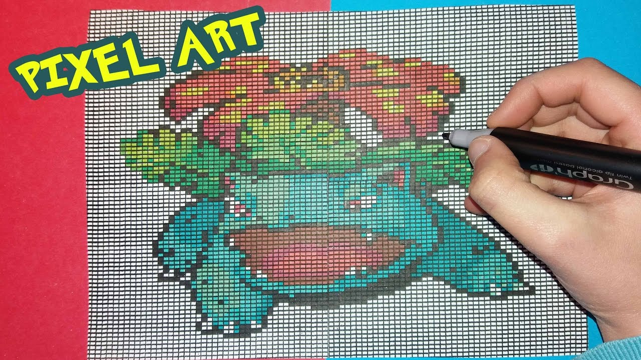 Comment Dessiner Florizarre Venusaur How To Draw Pixel Art Pokemon