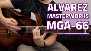 Alvarez Masterworks MGA-66ESHB Grand Auditorium Electro Acoustic - Overview & Demo