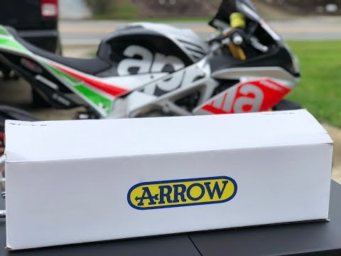 THE EXHAUST IS FINALLY HERE! RSV4 ARROW RACE EXHAUST