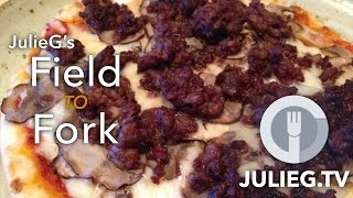 #fieldtofork Tasty Tease - #venison Sausage And Mushroom Quick Pizza