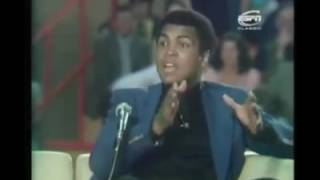 "Muhammad Ali is asked ""are you as good a Muslim as you are a boxer?"""