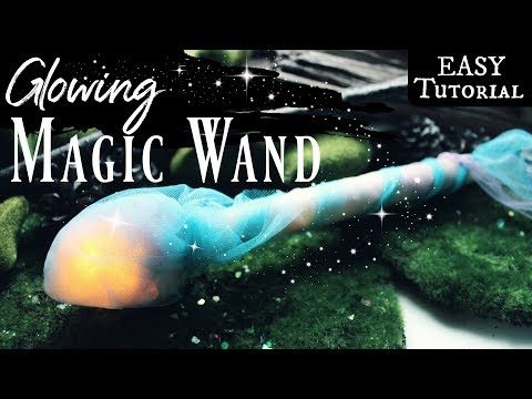 How to make a Magic Wand that Lights Up ♥ DIY Wizard Wand or Fairy Wand Tutorial ♥ #MagicWands