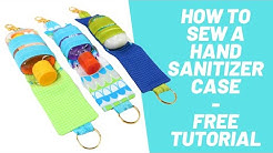 How to Sew a Travel Size Hand Sanitizer Case - Beginner Sewing Project - FREE DIY Tutorial