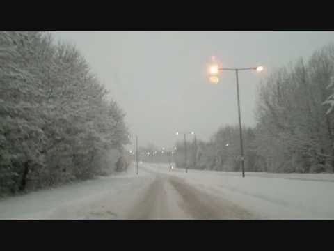 Driving home in snow, Redditch December 18 2010