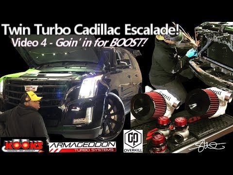 Goin' in for BOOST. Twin Turbo Cadillac Escalade - The Big Tear Down video 4