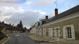 Driving in the Loire Valley - town